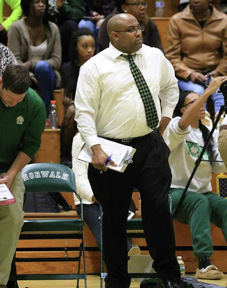 Darrick Eason, an assistant at Norwalk High for eight seasons, is the new boys basketball coach at McMahon. Photo: Contributed Photo