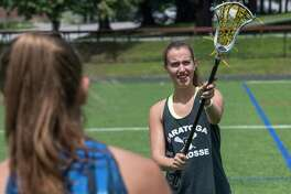 Lacrosse player Katie Wendell works out on  Skidmore's Wachenheim Field Thursday July 27, 2017 in Saratoga Springs, N.Y. (Skip Dickstein/Times Union)