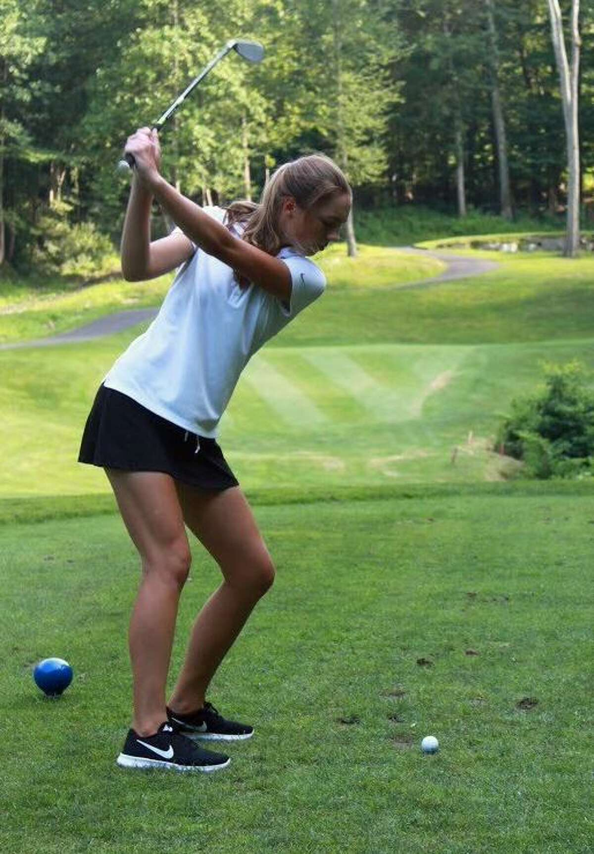 Newtown's Sarah Houle won the state championship as a junior this spring.
