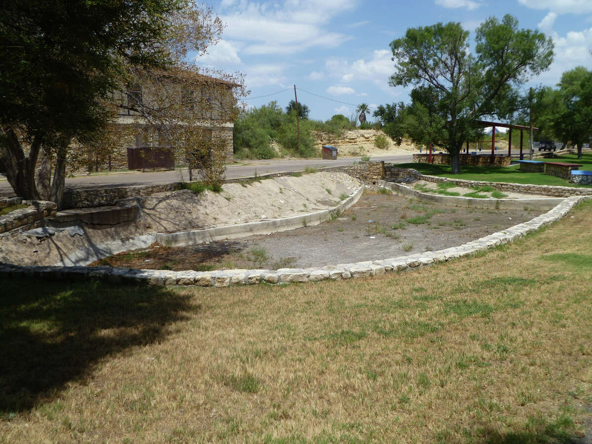 The historic Comanche Springs has dried up as a result of prodigious pumping, pictured Friday, August 14, 2015, in Ft. Stockton. Brandon Mulder/Reporter-Telegram