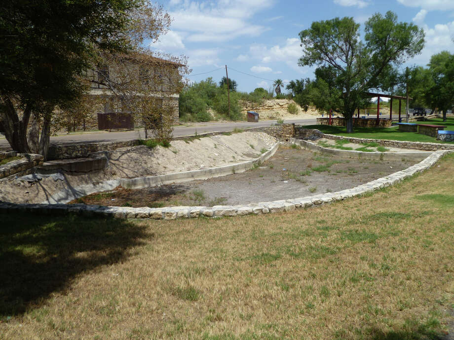 The historic Comanche Springs has dried up as a result of prodigious pumping, pictured Friday, August 14, 2015, in Ft. Stockton.