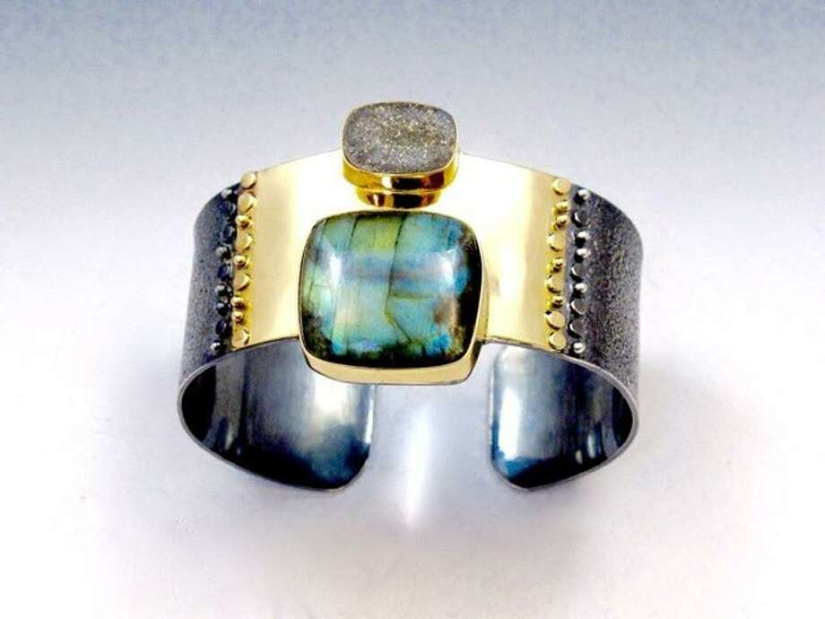 Deborah Armstrong Creates Jewelry Pieces Like This Cuff Using Semiprecious Stoneinerals