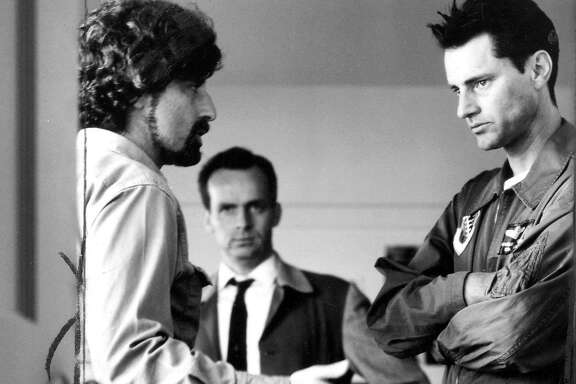 "Sam Shepard (r) and Phillp Kaufman on the set of ""The Right Stuff  Handout"