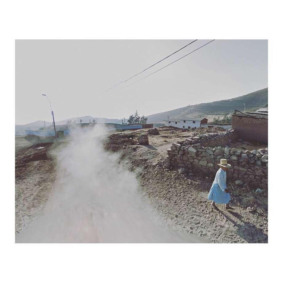 Google car dust, Peru. Photo: Courtesy Jacqui Kenny