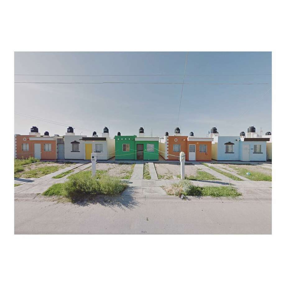 Artist Jacqui Kenny creates her snapshots by finding unique scenes on Google Street View — her method of creating these images helps her deal with her agoraphobia, she says. This image is taken from Google Street View, of a street in Torreon, Coahuila, Mexico. Photo: Courtesy Jacqui Kenny