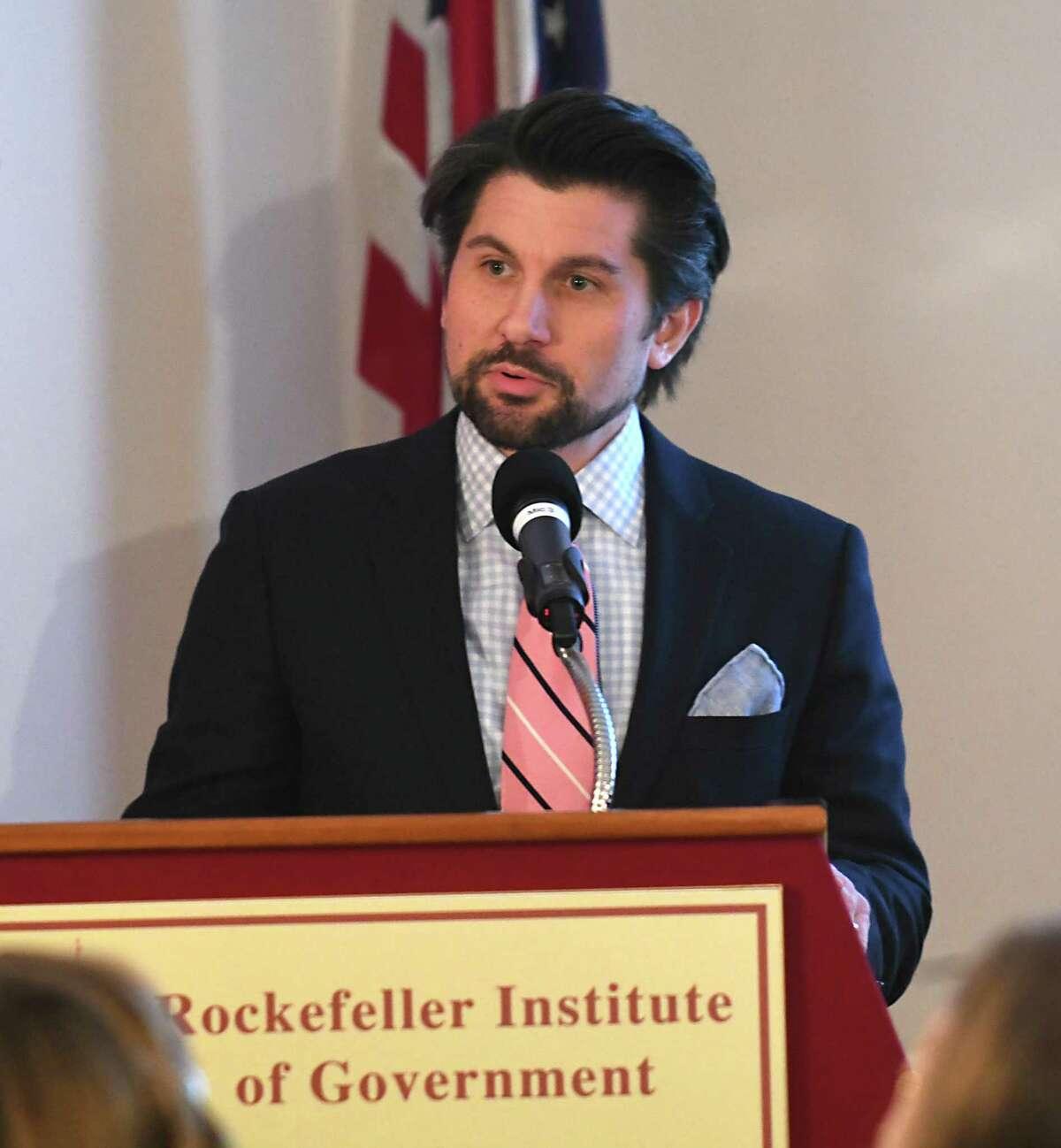 Jim Malatras, president of the Rockefeller Institute. Lori Van Buren / Times Union)