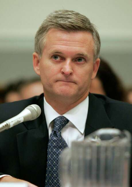 In this Sept. 7, 2006 file photo, Steven Bradbury, Acting Assistant Attorney General, testifies before the House Armed Services Committee in Washington. (AP Photo/Charles Dharapak, File) Photo: Charles Dharapak, STF / AP