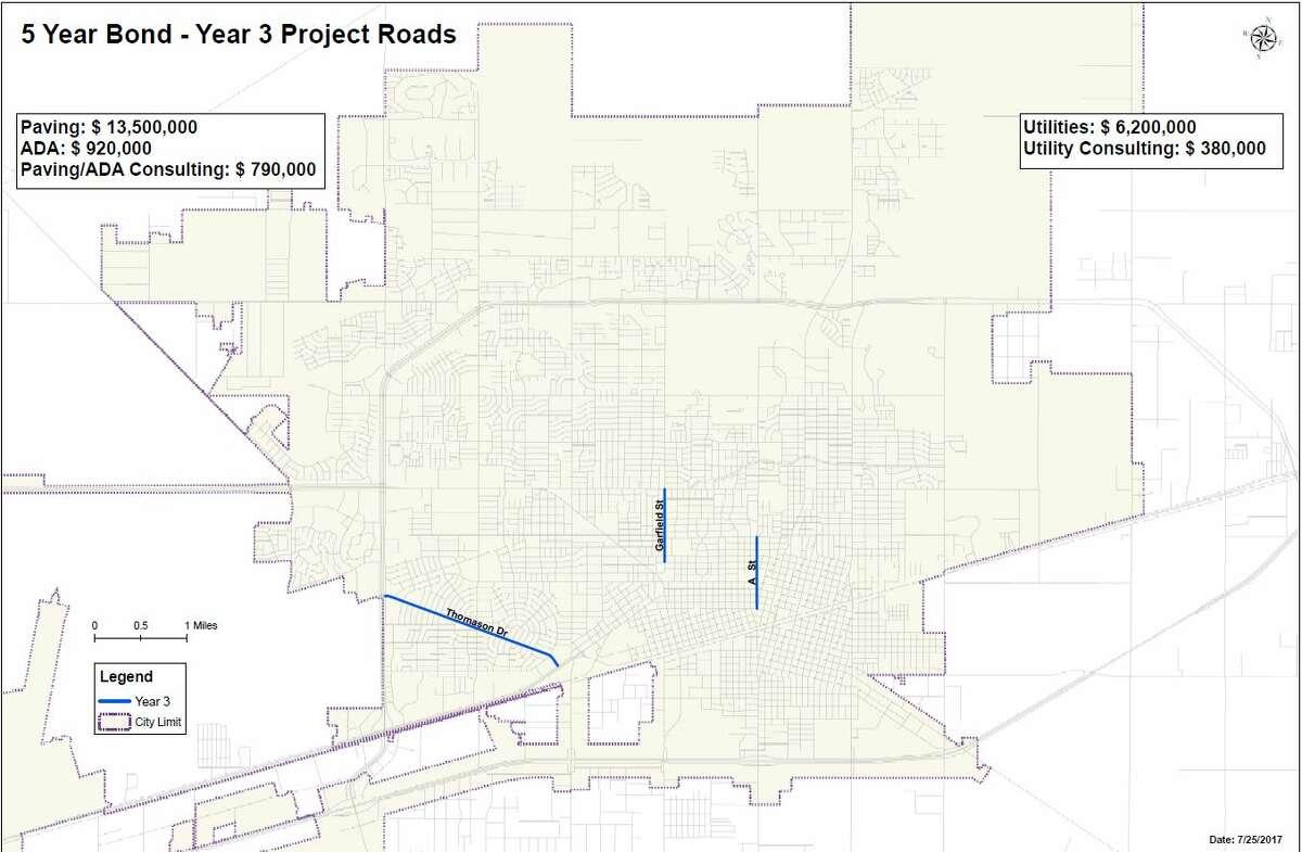 5 Year Bond - Year 3 Project Roads
