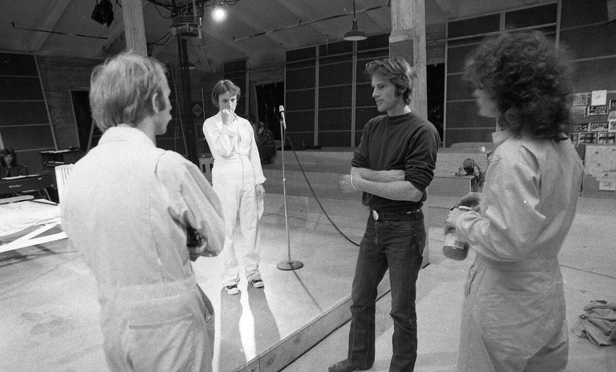 Sam Shepard directing the actors in the improvisational play Inacoma, March 7, 1977