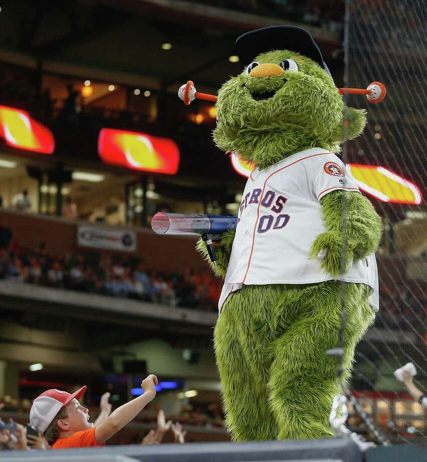 Astros mascot Orbit faced a hilarious awkward moment after Kate Upton's fiance became part of the Astros due to a high-profile trade.>> See 25 reasons to love Kate Upton. Photo: Bob Levey, Getty Images / 2017 Getty Images