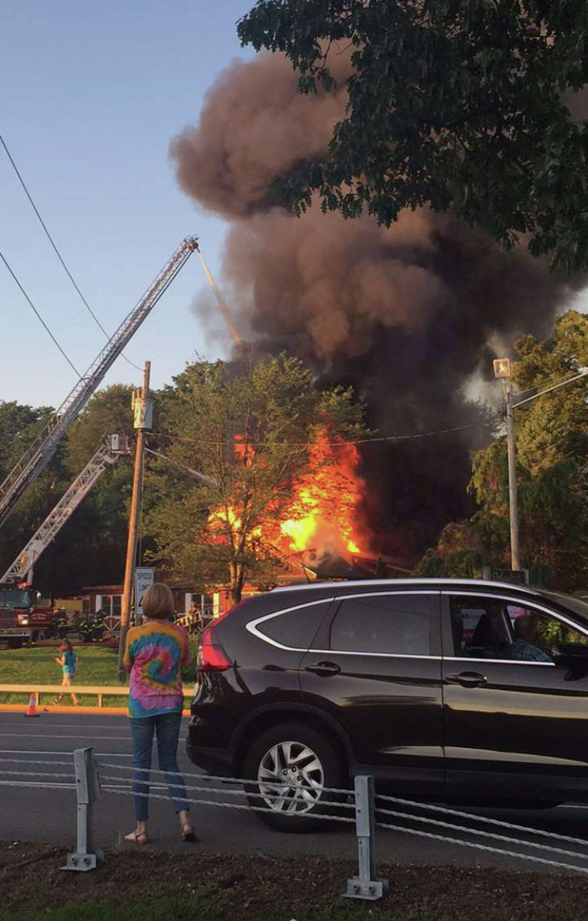 Flames engulf Camp Bow Wow dog day care business in Clifton Park.