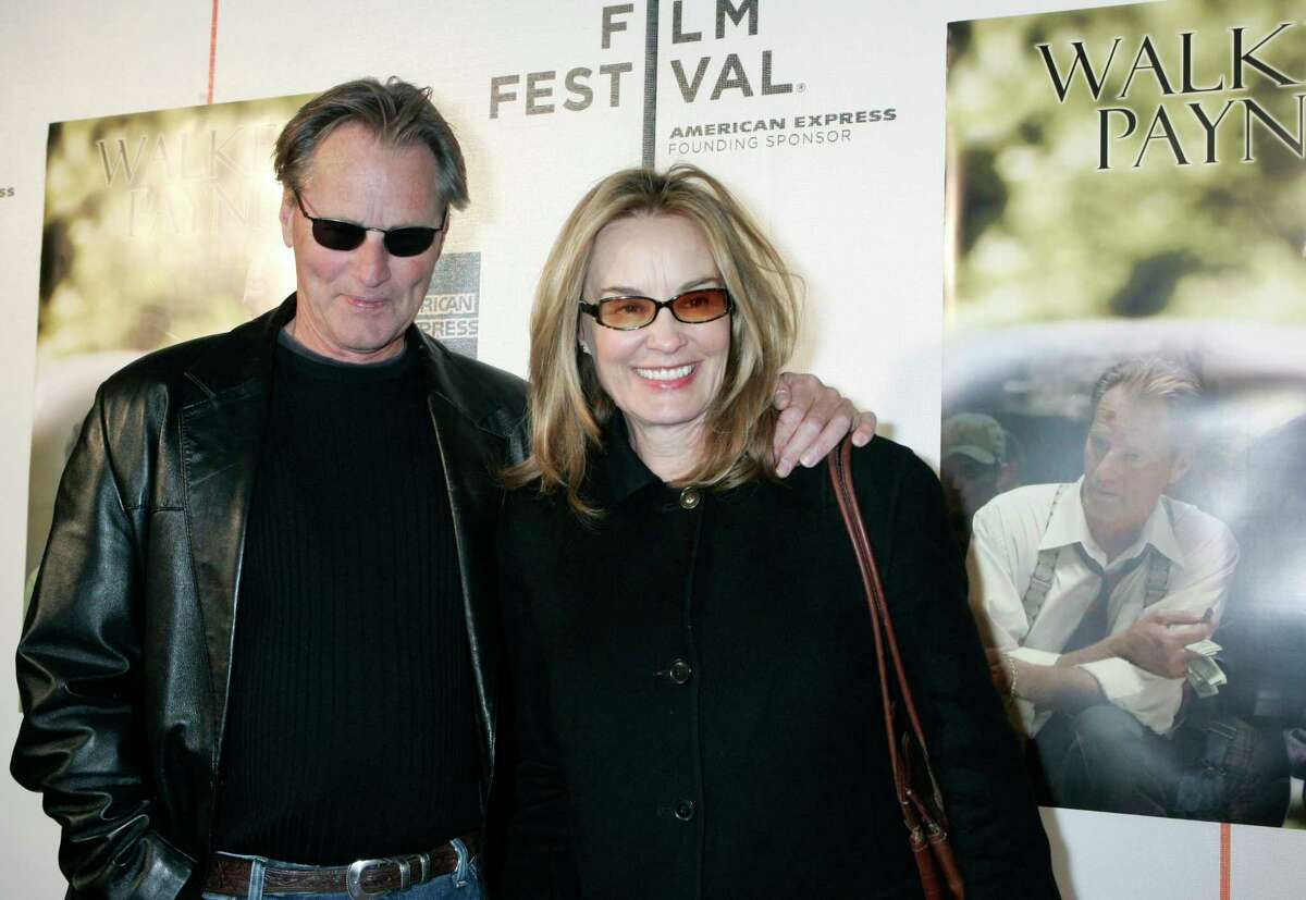 FILE- This April 26, 2006 file photo shows Sam Shepard and Jessica Lange as they arrive to the premiere of his film,