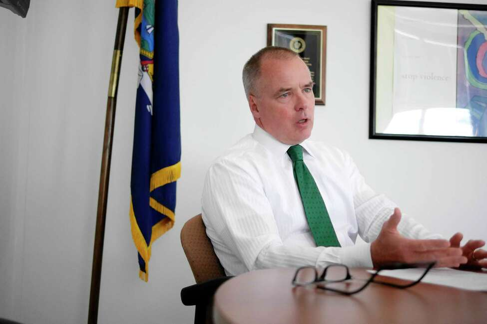 Michael Green, executive deputy commissioner of the state Division of Criminal Justice Services, talks about the employees at DCJS during an interview on Wednesday, March 15, 2017, in Albany, N.Y. (Paul Buckowski / Times Union)