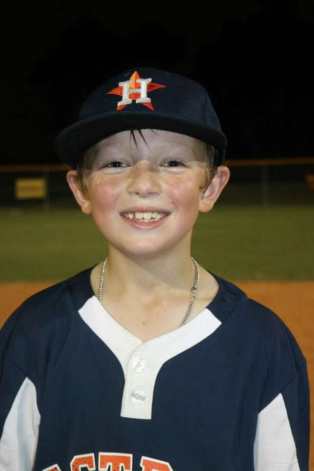 Deer Park Pinto all-star Colt Marlow earned this summer's Most Quotable Kid Award. He is America's most quoted 8-year-old baseball player. Photo: Robert Avery