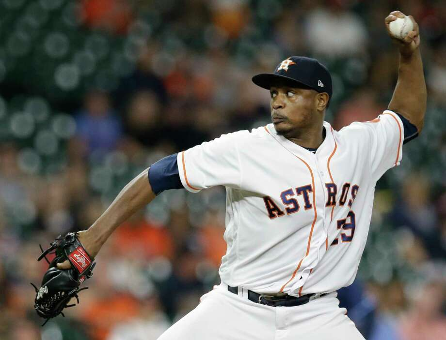 Houston Astros Tony Sipp pitches against the Tampa Bay Rays during the ninth inning at Minute Maid Park Monday, July 31, 2017, in Houston. Photo: Melissa Phillip, Houston Chronicle / © 2017 Houston Chronicle