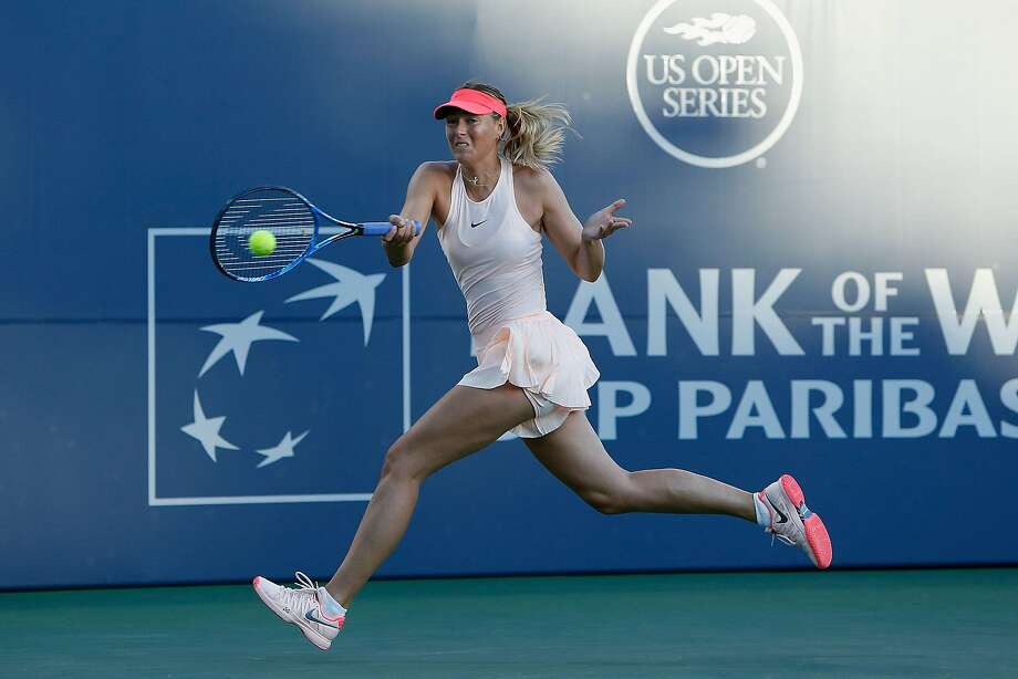 STANFORD, CA - JULY 31: Maria Sharapova of Russia competes against Jennifer Brady of the United States during day 1 of the Bank of the West Classic at Stanford University Taube Family Tennis Stadium on July 31, 2017 in Stanford, California. (Photo by Lachlan Cunningham/Getty Images) Photo: Lachlan Cunningham, Getty Images