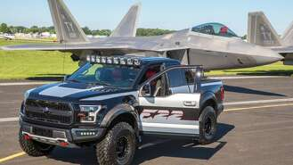 Ford showcased a new pickup truck, the F-150 Raptor on Monday. The design of the truck has been inspired from the F-22 Fighter jet.