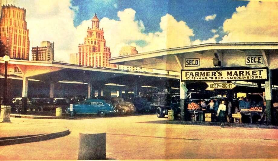 """Farmer's Market"" in downtown Houston, ca. 1947. Photo: David Leftwich"