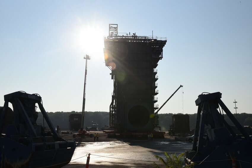This giant steam generator built at the Port of Coeymans is to be shipped down the Hudson on Aug. 7, 2017.