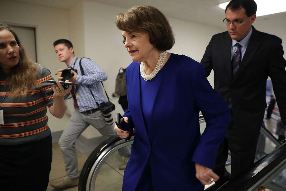 WASHINGTON, DC - JULY 31:  Sen. Dianne Feinstein (D-CA) is pursued by reporters as she heads to the U.S. Capitol for a vote July 31, 2017 in Washington, DC. Senate GOP leadership was unable to repeal and replace the Affordable Care Act, or Obamacare, last week and it remains unclear what they will be able to accomplish before an upcoming recess.  (Photo by Chip Somodevilla/Getty Images) Photo: Chip Somodevilla, Getty Images