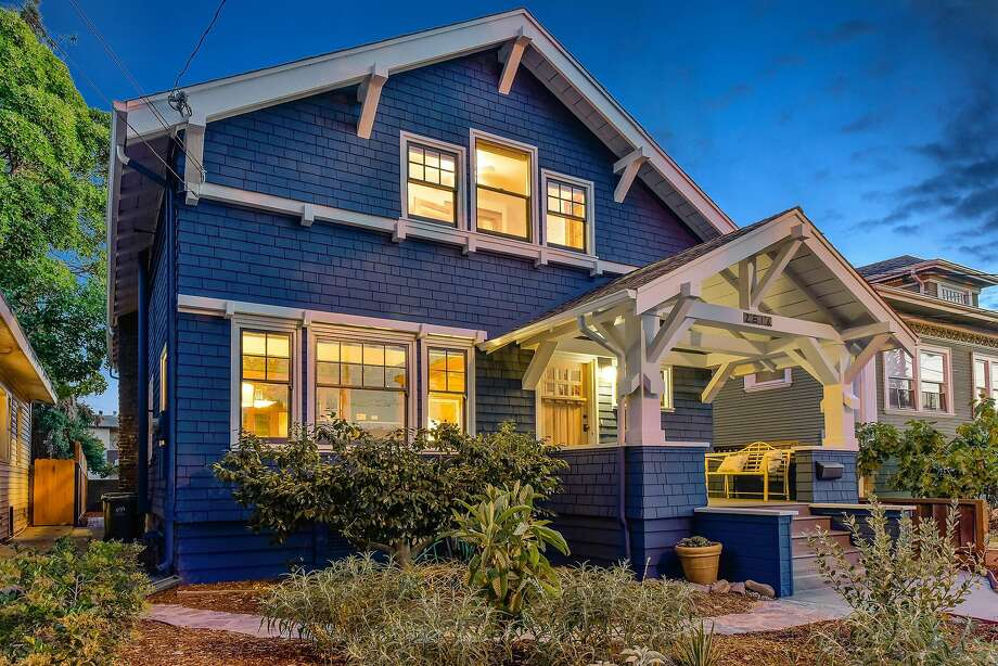2516 Encinal Way is a shingled five-bedroom Craftsman available for $999,999. Photo: Open Homes Photography