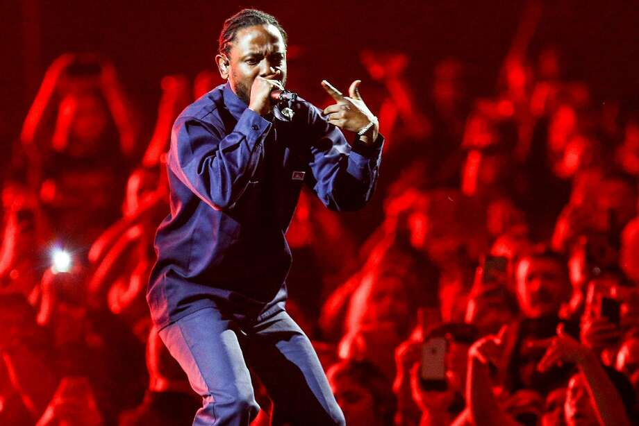 The Warriors' playoff game will push Kendrick Lamar's Oracle Arena show to Wednesday, May 9. Photo: Rich Fury / The Forum 2017
