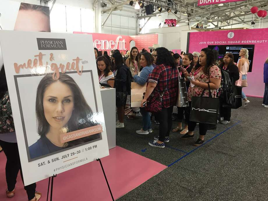 A crowd gathers at the Generation Beauty makeup expo in San Francisco. Photo: Beth Spotswood
