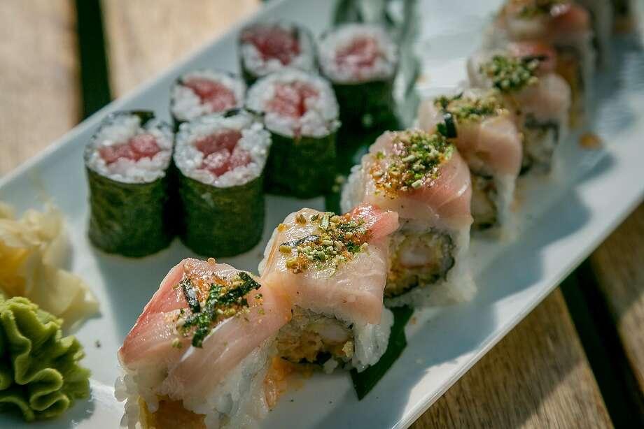 Big-eye tuna and shrimp tempura maki rolls at Moshi Moshi in S.F. Photo: John Storey, Special To The Chronicle