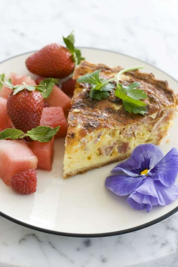 Matthew Mead/Associated Press photo: Ham and Cheddar Quiche Photo: AP / FR170582