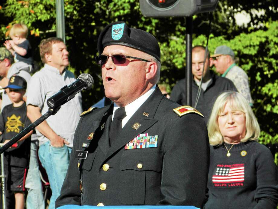 CT National Guard member and Seymour resident Michael Casey. Photo by Jean Falbo-Sosnovich Photo: Journal Register Co.