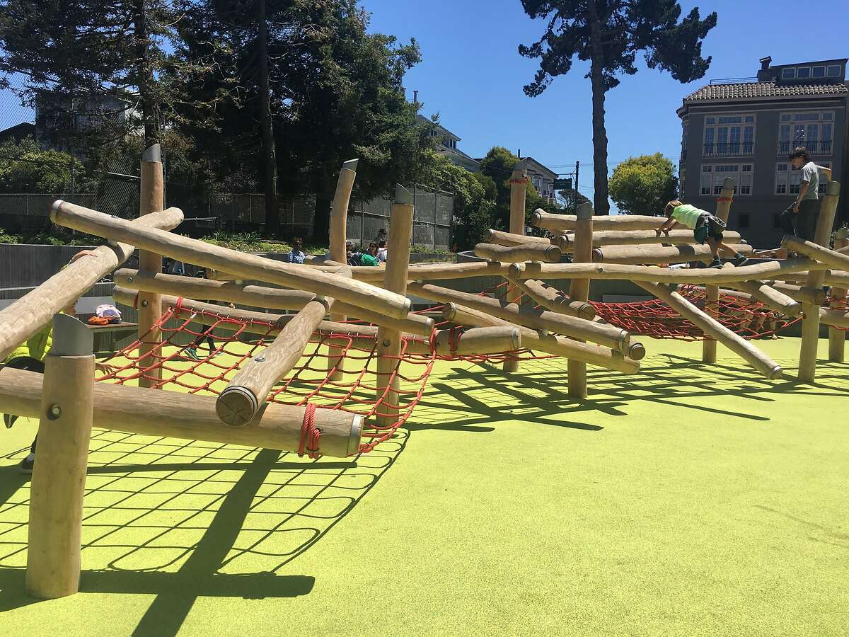 Play structure at the Mountain Lake Playground in San Francisco.