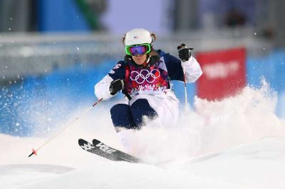Hannah Kearney of the United States competes in the Ladies' Moguls Qualification during the Sochi 2014 Winter Olympics at Rosa Khutor Extreme Park on Feb. 6 in Sochi, Russia.