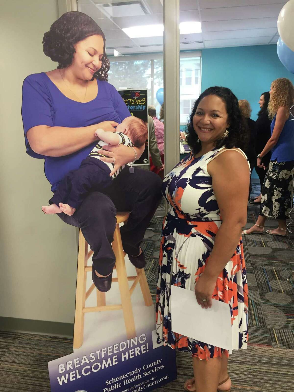The opening of the Baby Cafe in Schenectady on Tuesday, Aug. 1, 2017