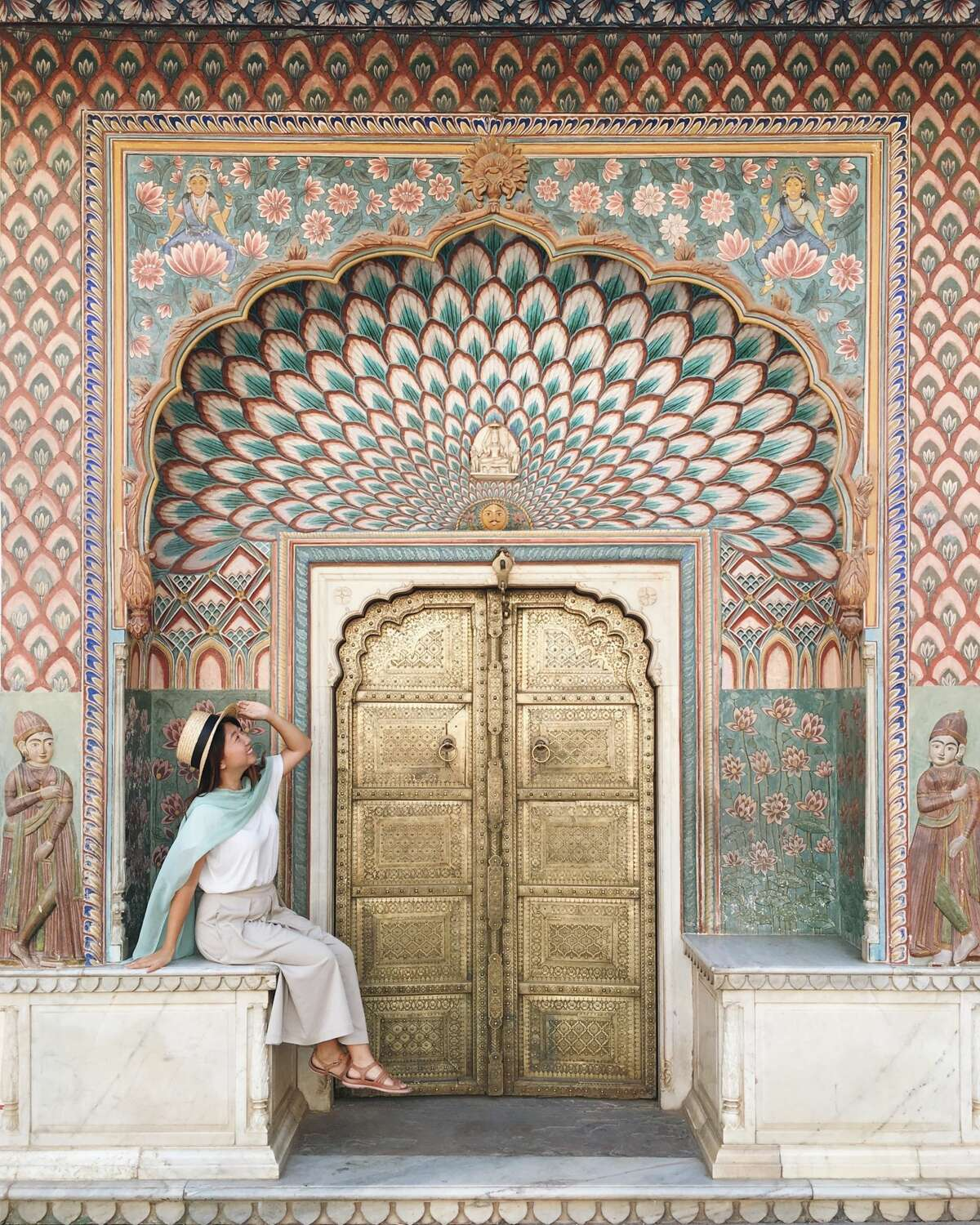 TJ Lee in Jaipur, India. Lee quit her tech job and embarked on a journey around the world. Followers can keep up with her travels via social media.