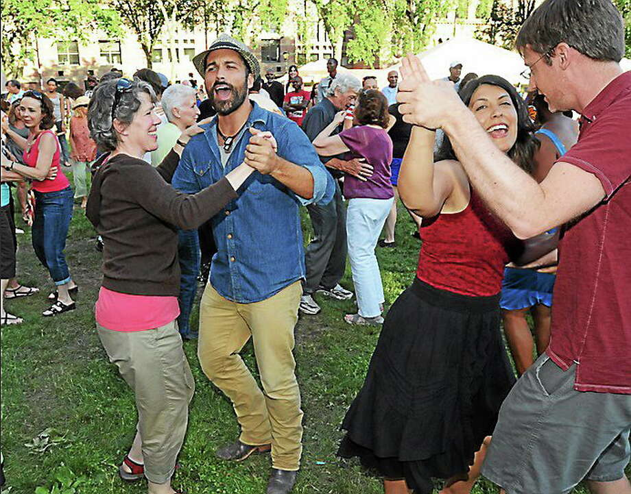New Haven The Louisiana-based band Cry You One taught International Festival of Arts & Ideas festival goers classic Cajun dance moves before the headliner Martha Redbone took the stage. Photo: Photo By Mara Lavitt - New Haven Register