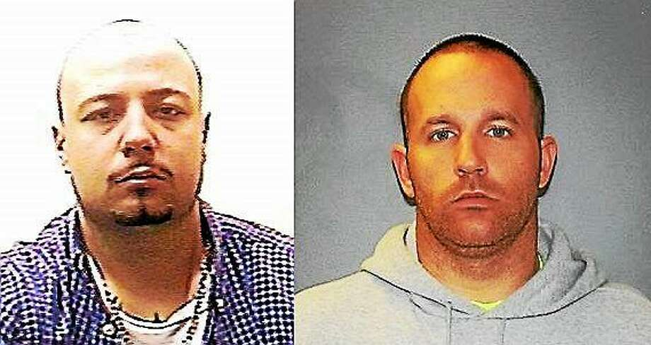 At left, Nicholas Papantoniou, whom police are currently searching for. At right, William Coutermash, who was arrested earlier this week. Photo: Hamden Police Department