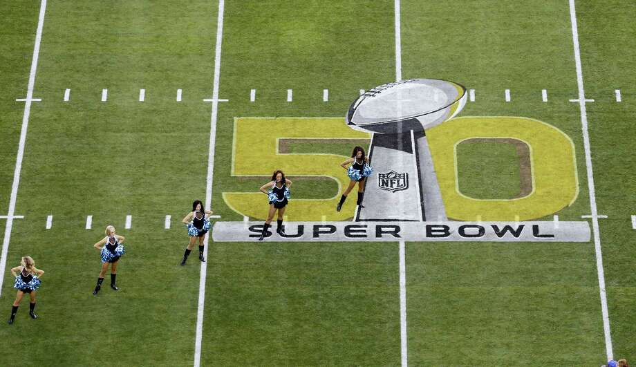 Carolina Panthers cheerleader's line up before the NFL Super Bowl 50 football game against the Denver Broncos Sunday, Feb. 7, 2016, in Santa Clara, Calif. (AP Photo/Tim Donnelly) Photo: AP / AP