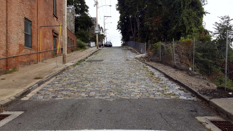 Cobblestone portion of Caroline Street in Derby. Photo: CONTRIBUTED PHOTO — Markanthony Izzo