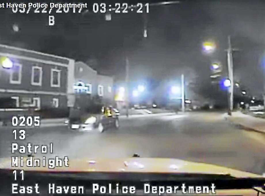 Screenshot from East Haven Police Department dashcam video. Photo: Digital First Media