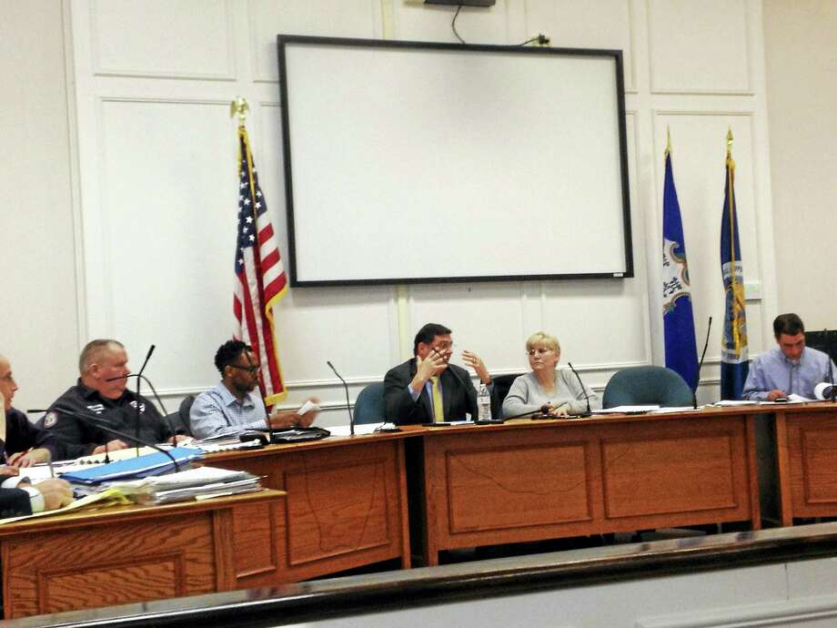 West Haven Mayor Ed O'Brien talks during the Planning and Zoning Commission's discussion about possible zoning regulation changes to allow backyard hens. Photo: Mark Zaretsky — New Haven Register