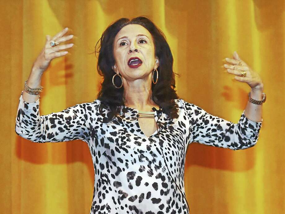 Journalist Maria Hinojosa speaks at the Women's Leadership Conference at the University of New Haven Friday in West Haven. Photo: Catherine Avalone — New Haven Register   / Catherine Avalone/New Haven Register