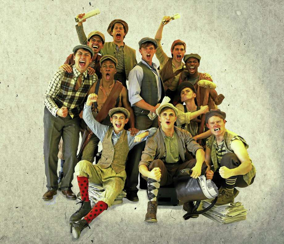 "With a Tony Award-winning score by Alan Menken and Jack Feldman and book by Harvey Fierstein, Connecticut Repertory Theatre premieres ""Newsies"" at the Harriet S. Jorgensen Theatre in Storrs July 6 for a run through July 16. Photo: Contributed"