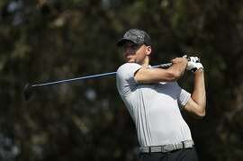 Stephen Curry played a practice round Tuesday at TPC Stonebrae in Hayward.