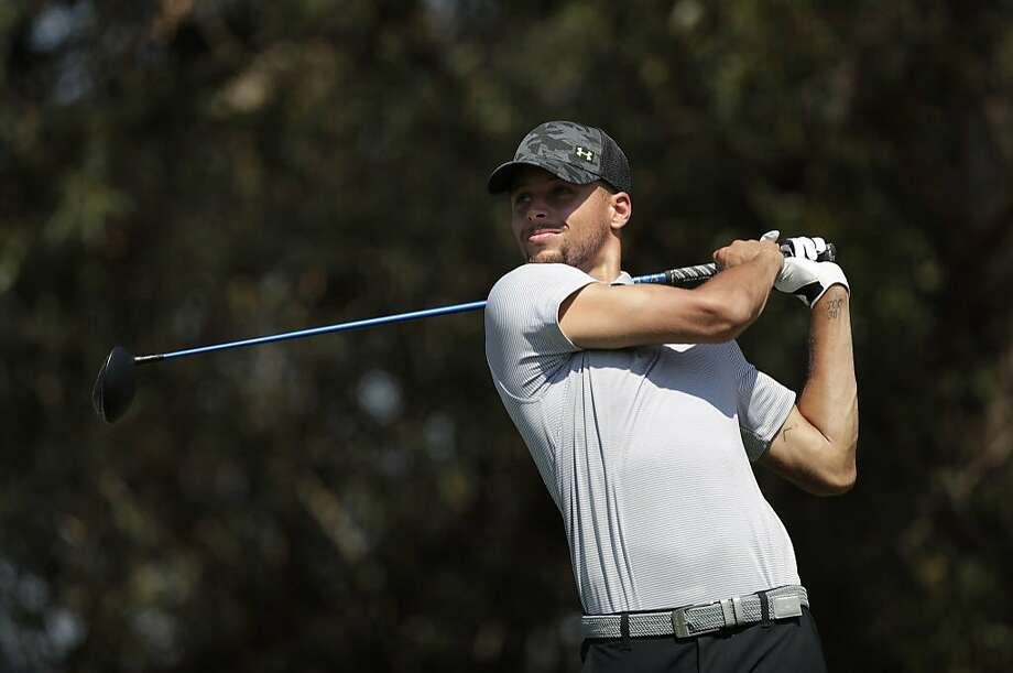 Stephen Curry played a practice round Tuesday at TPC Stonebrae in Hayward. Photo: Michael Macor/The Chronicle, The Chronicle