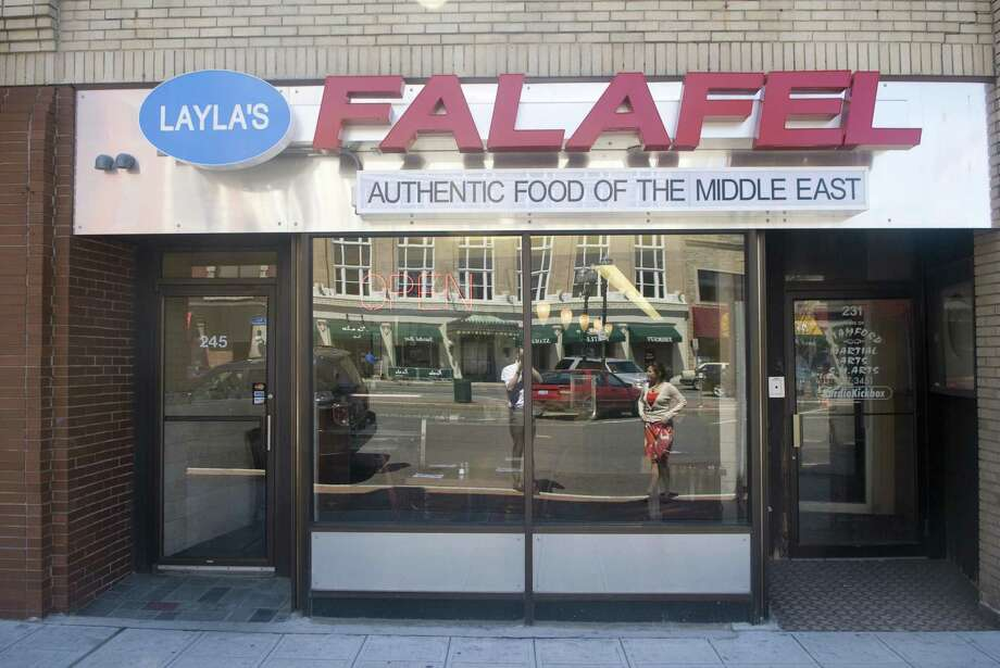 Stamford and state health officials are investigating food poisoning complaints from at least five people who ate last week at Layla's Falafel on Main Street. Photo: File Photo