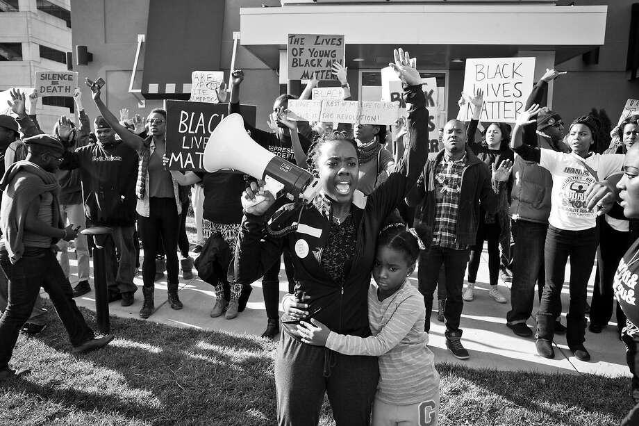 "Activist Brittany Ferrell rallies a crowd of protesters in the documentary ""Whose Streets?"" Photo: Magnolia Pictures"