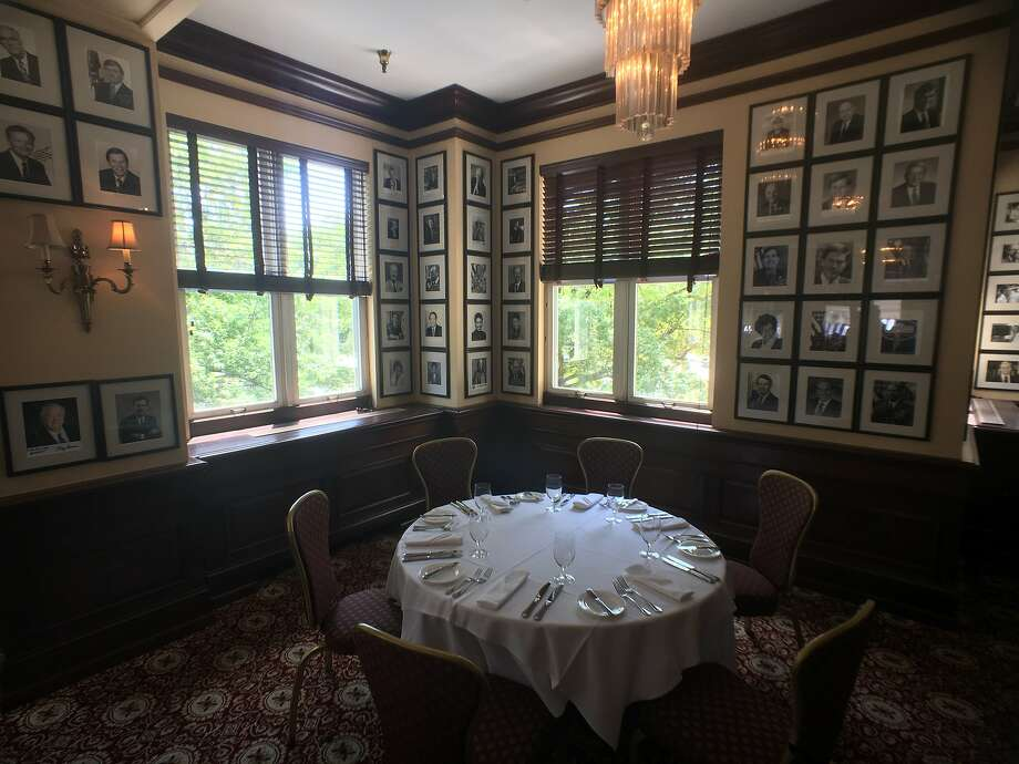 Among the local restaurants in Washington with spy history is the Occidental Grill and Seafood restaurant, a popular dining spot for politicians, celebrities, deal-makers and, apparently, spies. Photos of the restaurant's more famous diners cover the walls. Photo: Spud Hilton, The Chronicle