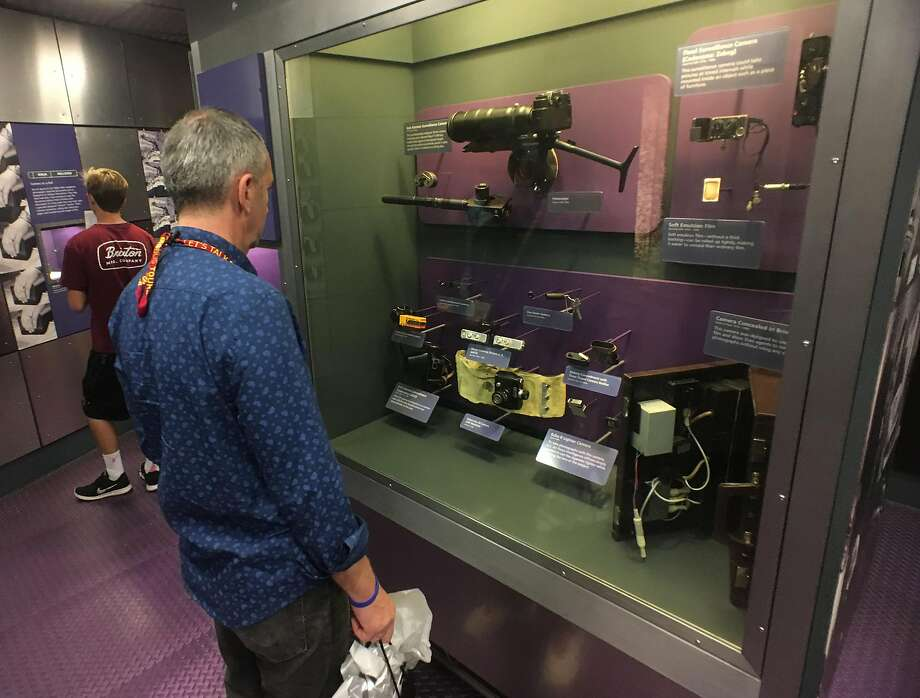 Display of various kinds of cameras used for spy craft at the International Spy Museum in Washington, D.C. Photo: Spud Hilton, The Chronicle