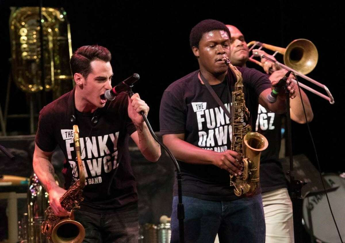 The Funky Dawgz Brass Band will perform in the Downtown Thursdays free concert series on Aug. 17. The series kicks off on Aug. 3.