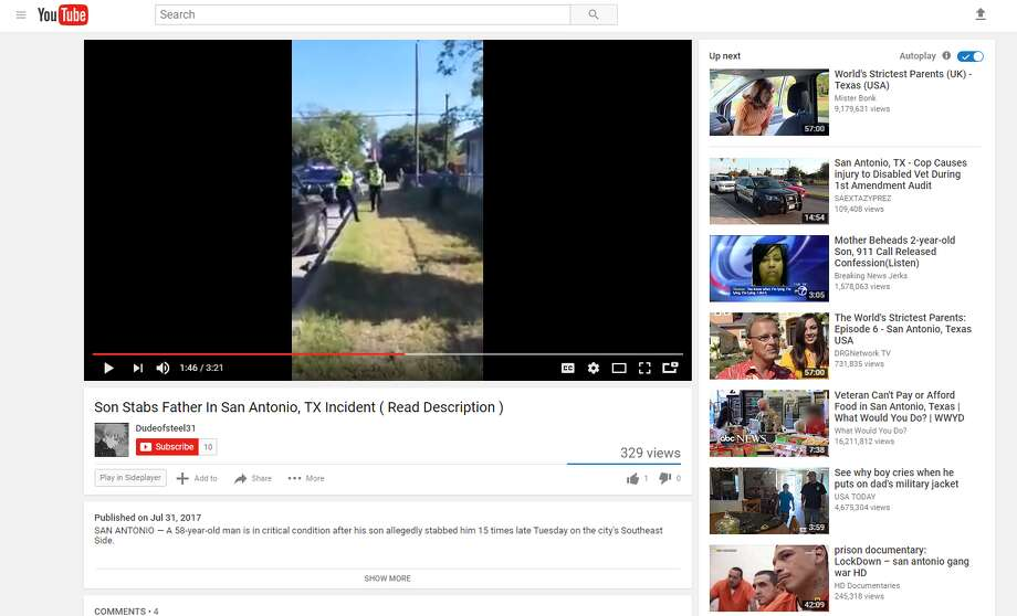 The video appears to depict a reported cutting around 5:30 p.m. on Friday at a home in the 800 block of Division Avenue, though police could not immediately confirm the origins of the video. Photo: YouTube
